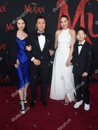"""Donnie Yen arrives at the Los Angeles premiere of """"Mulan"""" at the Dolby Theatre on"""
