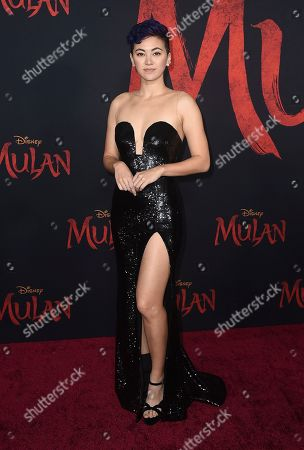 """Jessica Henwick arrives at the Los Angeles premiere of """"Mulan"""" at the Dolby Theatre on"""