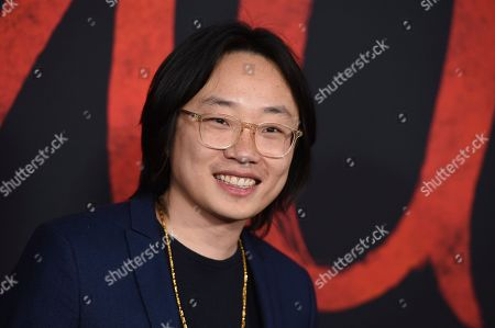 "Jimmy O. Yang arrives at the Los Angeles premiere of ""Mulan"" at the Dolby Theatre on"
