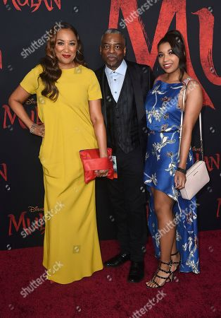 """Stock Image of LeVar Burton arrives at the Los Angeles premiere of """"Mulan"""" at the Dolby Theatre on"""