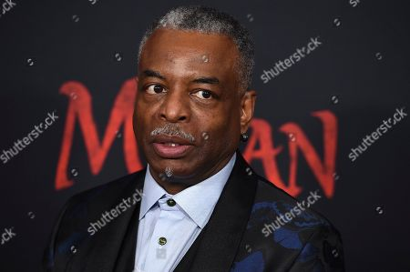 """Stock Picture of LeVar Burton arrives at the Los Angeles premiere of """"Mulan"""" at the Dolby Theatre on"""