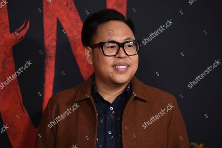"""Nico Santos arrives at the Los Angeles premiere of """"Mulan"""" at the Dolby Theatre on"""
