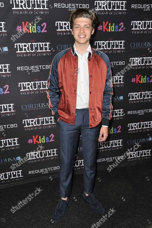 """Ricky Garcia attends the LA premiere of """"My Truth: The Rape of 2 Coreys"""" at the Directors Guild of America, in Los Angeles"""