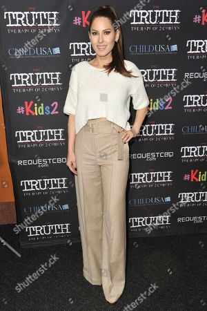 """Stock Picture of Kerri Kasem attends the LA premiere of """"My Truth: The Rape of 2 Coreys"""" at the Directors Guild of America, in Los Angeles"""