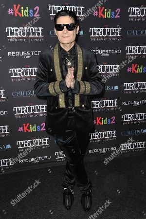 """Corey Feldman attends the LA premiere of """"My Truth: The Rape of 2 Coreys"""" at the Directors Guild of America, in Los Angeles"""