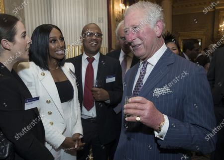 Prince Charles with Alexandra Burke at the Commonwealth Day Reception at Marlborough House