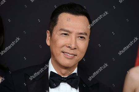 """Donnie Yen arrives at the Los Angeles premiere of """"Mulan,"""" at the Dolby Theatre"""