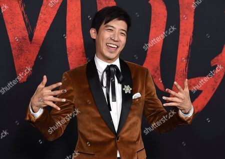 """Stock Image of Jimmy Wong arrives at the Los Angeles premiere of """"Mulan,"""" at the Dolby Theatre"""