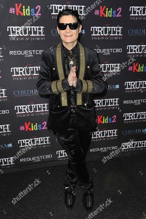 """Corey Feldman attends the LA premiere of """"My Truth: The Rape of 2 Coreys,"""" at the Directors Guild of America, in Los Angeles"""