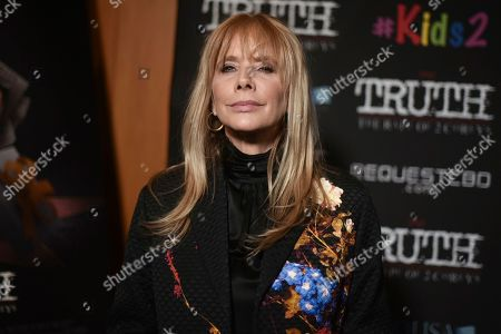 """Stock Image of Rosanna Arquette attends the LA premiere of """"My Truth: The Rape of 2 Coreys,"""" at the Directors Guild of America, in Los Angeles"""