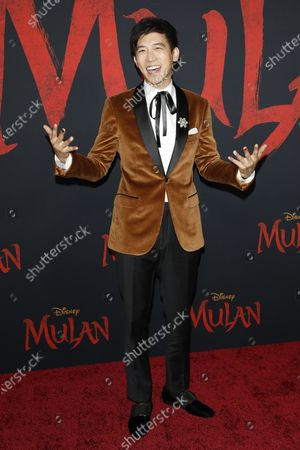 Jimmy Wong arrives for the world premiere of the movie 'Mulan' at the Dolby Theatre in Hollywood, Los Angeles, California, USA, 09 March 2020. The movie opens in theatres in the USA on 27 March 2020.