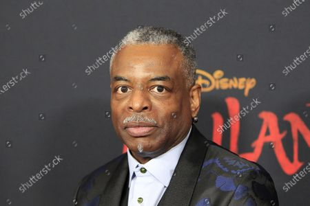 LeVar Burton arrives for the world premiere of the movie 'Mulan' at the Dolby Theatre in Hollywood, Los Angeles, California, USA, 09 March 2020. The movie opens in theatres in the USA on 27 March 2020.