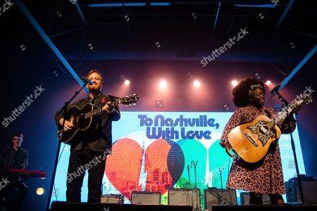 Dan Auerbach; Yola. Dan Auerbach, left and Yola perform at the To Nashville, With Love Benefit Concert at Marathon Music Works, in Nashville, TN
