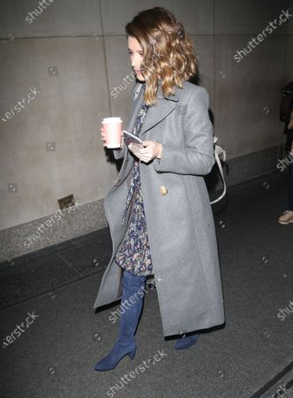 Editorial photo of Katherine Schwarzenegger out and about, New York, USA - 09 Mar 2020