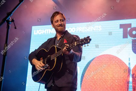 Dan Auerbach performs at the To Nashville, With Love Benefit Concert at Marathon Music Works, in Nashville, TN