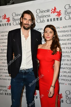 Camille Lacourt and guest Alice