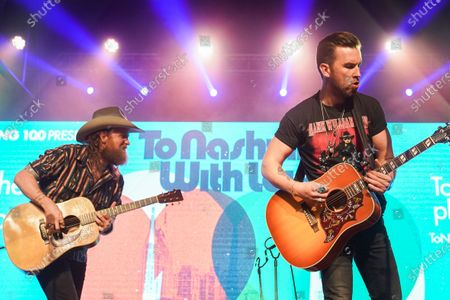 John Osborne (L) and TJ Osborne, Brothers Osborne, perform at Music Marathon Works.