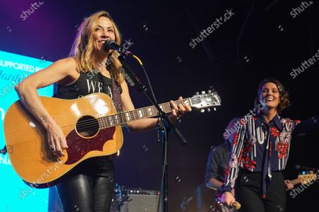 Stock Image of Sheryl Crow and Brandi Carlile perform at Music Marathon Works.