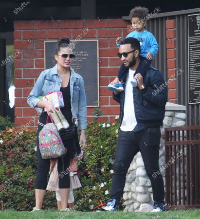 Editorial image of Chrissy Teigen, John Legend and children out and about, Los Angeles, USA - 07 Mar 2020