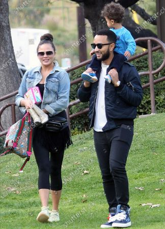 Editorial photo of Chrissy Teigen, John Legend and children out and about, Los Angeles, USA - 07 Mar 2020