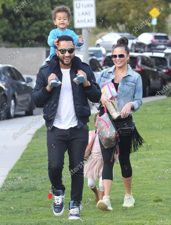 Editorial picture of Chrissy Teigen, John Legend and children out and about, Los Angeles, USA - 07 Mar 2020