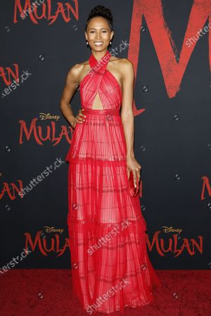 Fola Evans Akingbola arrives for the World Premiere of Mulan at the Dolby Theatre in Hollywood, Los Angeles, California, USA, 09 March 2020. The movie opens in the US on 27 March 2020.