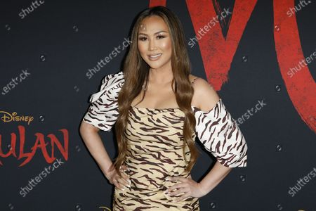 Stock Image of Dorothy Wang arrives for the World Premiere of Mulan at the Dolby Theatre in Hollywood, Los Angeles, California, USA, 09 March 2020. The movie opens in the US on 27 March 2020.