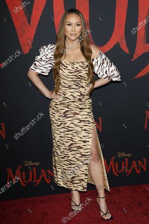 Stock Photo of Dorothy Wang arrives for the World Premiere of Mulan at the Dolby Theatre in Hollywood, Los Angeles, California, USA, 09 March 2020. The movie opens in the US on 27 March 2020.