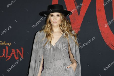 Allison Holker arrives for the World Premiere of Mulan at the Dolby Theatre in Hollywood, Los Angeles, California, USA, 09 March 2020. The movie opens in the US on 27 March 2020.