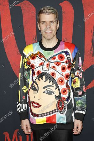 Perez Hilton arrives for the World Premiere of Mulan at the Dolby Theatre in Hollywood, Los Angeles, California, USA, 09 March 2020. The movie opens in the US on 27 March 2020.