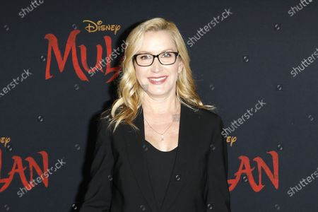 Stock Photo of Angela Kinsey arrives for the World Premiere of Mulan at the Dolby Theatre in Hollywood, Los Angeles, California, USA, 09 March 2020. The movie opens in the US on 27 March 2020.