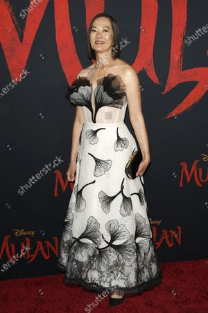 Rosalind Chao arrives for the World Premiere of Mulan at the Dolby Theatre in Hollywood, Los Angeles, California, USA, 09 March 2020. The movie opens in the US on 27 March 2020.