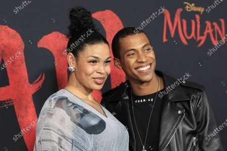 Jordin Sparks (L) and Dana Isaiah arrive for the World Premiere of Mulan at the Dolby Theatre in Hollywood, Los Angeles, California, USA, 09 March 2020. The movie opens in the US on 27 March 2020.
