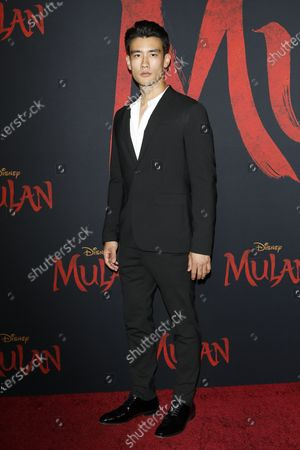 Stock Image of Alex Landi arrives for the World Premiere of Mulan at the Dolby Theatre in Hollywood, Los Angeles, California, USA, 09 March 2020. The movie opens in the US on 27 March 2020.