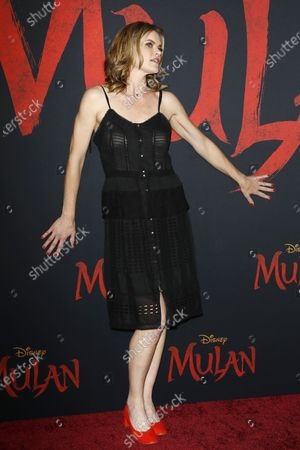 Stock Photo of Missi Pyle arrives for the World Premiere of Mulan at the Dolby Theatre in Hollywood, Los Angeles, California, USA, 09 March 2020. The movie opens in the US on 27 March 2020.