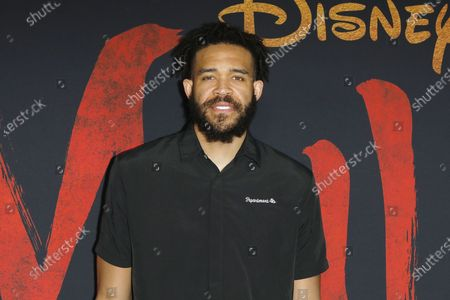 JaVale McGee arrives for the World Premiere of Mulan at the Dolby Theatre in Hollywood, Los Angeles, California, USA, 09 March 2020. The movie opens in the US on 27 March 2020.