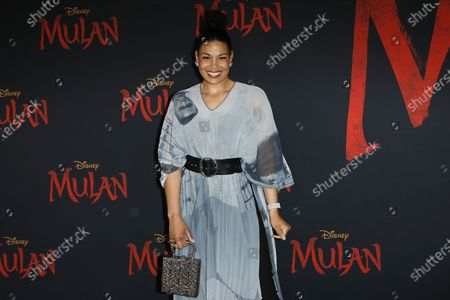 Jordin Sparks arrives for the World Premiere of Mulan at the Dolby Theatre in Hollywood, Los Angeles, California, USA, 09 March 2020. The movie opens in the US on 27 March 2020.