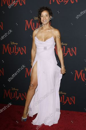 Stock Picture of Dania Ramirez arrives for the World Premiere of Mulan at the Dolby Theatre in Hollywood, Los Angeles, California, USA, 09 March 2020. The movie opens in the US on 27 March 2020.