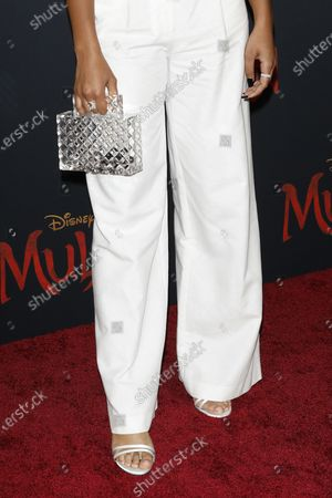 Chandler Kinney arrives for the World Premiere of Mulan at the Dolby Theatre in Hollywood, Los Angeles, California, USA, 09 March 2020. The movie opens in the US on 27 March 2020.