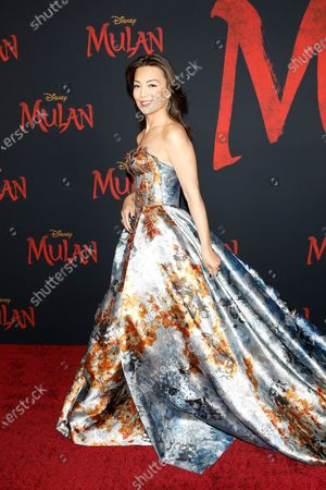 Ming Na Wen arrives for the World Premiere of Mulan at the Dolby Theatre in Hollywood, Los Angeles, California, USA, 09 March 2020. The movie opens in the US on 27 March 2020.