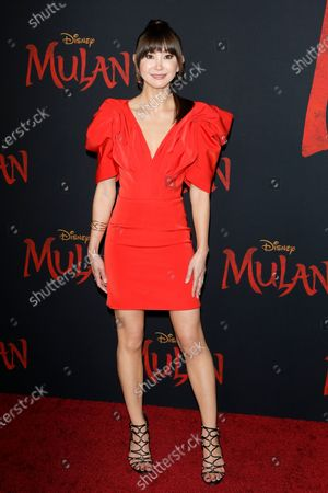Kimiko Glenn arrives for the World Premiere of Mulan at the Dolby Theatre in Hollywood, Los Angeles, California, USA, 09 March 2020. The movie opens in the US on 27 March 2020.