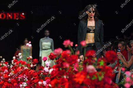 Stock Photo of Models present creations by Dion Lee during the Gala Runway 1 show at the Melbourne Fashion Festival, in Melbourne, Australia, 10 March 2020.