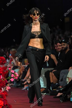 A model presents a creation by Dion Lee during the Gala Runway 1 show at the Melbourne Fashion Festival, in Melbourne, Australia, 10 March 2020.