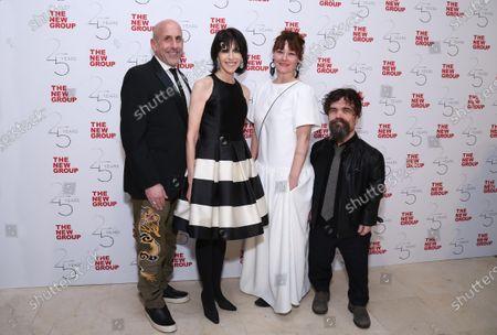 Stock Image of Scott Elliott, Abby Merrill, Erica Schmidt and Peter Dinklage