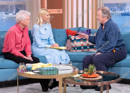 Phillip Schofield and Holly Willoughby with David Soul