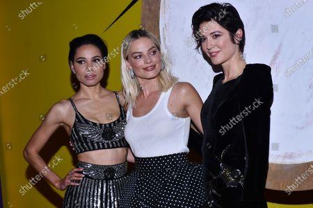 Jurnee Smollett-Bell (Black Canary), Margot Robbie (Harley Quinn) and Mary Elizabeth Winstead (Huntress)