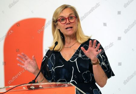 Ducth Minister for Foreign Trade and Development Cooperation, Sigrid Kaag gives a speech during the event Netherlands Economic Mission to Indonesia in Jakarta, Indonesia, 10 March 2020. Around 180 participans representing 130 Dutch companies and knowledge institution take a part in the mission. The Dutch royal couple is on a five-day state visit to Indonesia, to strengthen the bilateral relationship between the two countries.