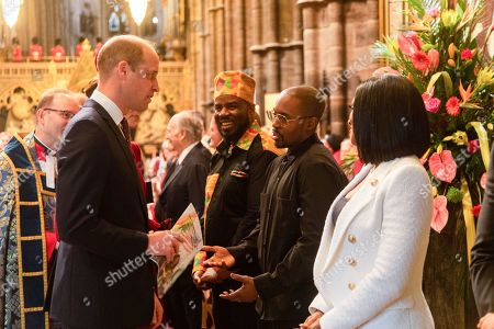 Prince William speaks with Suli Breaks and Alexandra Burke