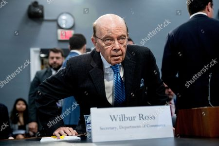 Commerce Secretary Wilbur Ross arrives for a House Appropriations subcommittee on budget on Capitol Hill, in Washington