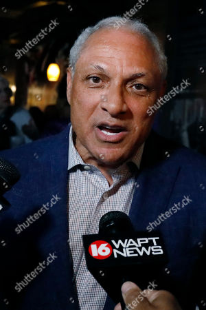 Mike Espy speaks to reporters in Jackson, Miss., after winning the Democratic nomination for a U.S. Senate seat in Mississippi, . Espy will face Republican incumbent U.S. Sen. Cindy Hyde-Smith and Libertarian candidate Jimmy Edwards in November